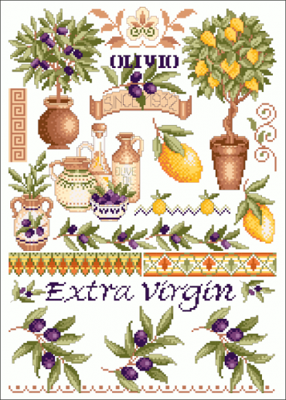 Zählvorlagen, Sommer, Toskana Oliven