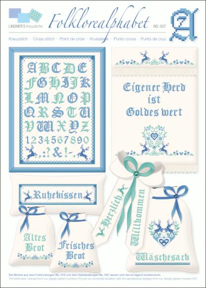 Zählvorlagen, Traditionell, Folklore Alphabet eisig