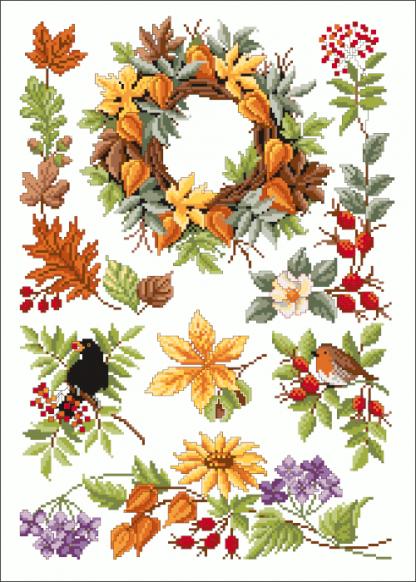 Zählvorlagen, Herbst, Herbstfreuden