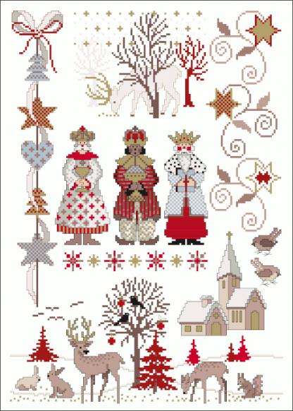 Zählvorlagen, Weihnachten, Die Heiligen Drei Könige