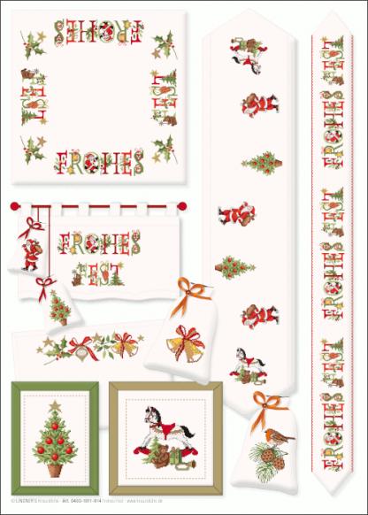 Zählvorlagen, Weihnachten, Frohes Fest