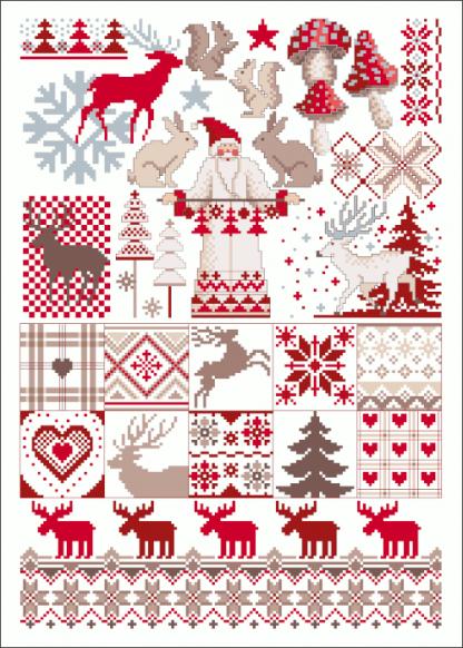 Zählvorlagen, Weihnachten, Santa Claus