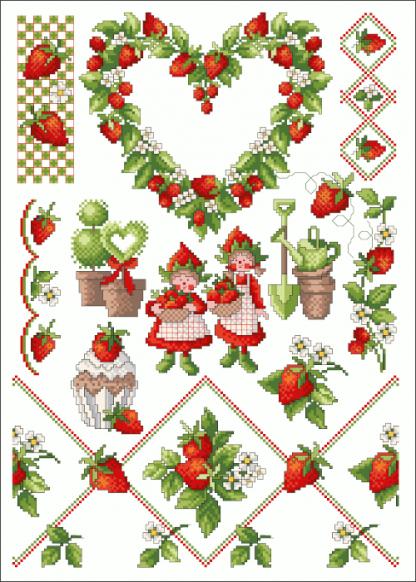 Zählvorlagen, Frühjahr, Erdbeerzeit