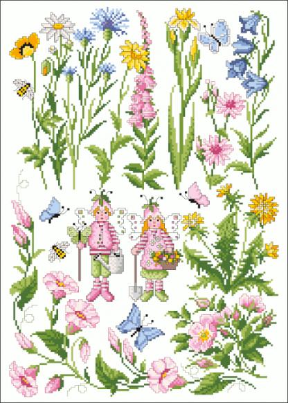 Zählvorlagen, Sommer, Wiesenblumen