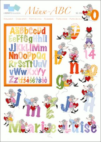 Zählvorlagen, Kinder, Mäuse-ABC