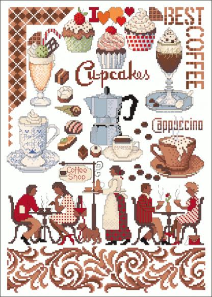 Zählvorlagen, Küche, Coffeetime