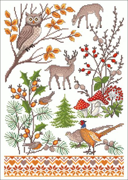 Zählvorlagen, Herbst, Spätherbst