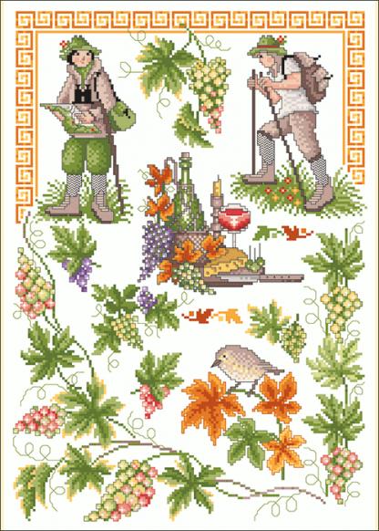 Zählvorlagen, Herbst, Weinlese