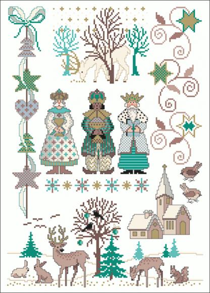 Zählvorlagen, Weihnachten, Die Eisigen Drei Könige