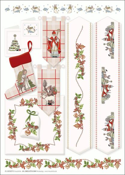 Zählvorlagen, Weihnachten, Nikolaustag