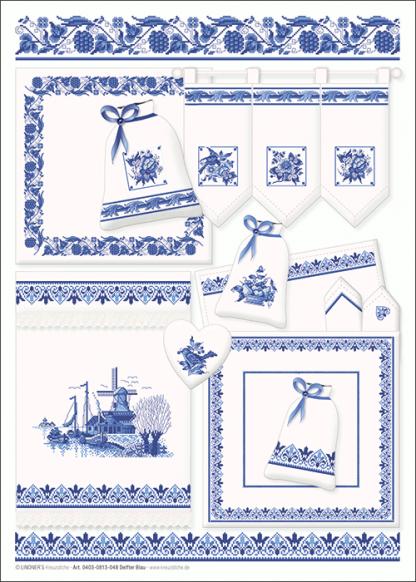Zählvorlagen, Traditionell, Klassisch Blau