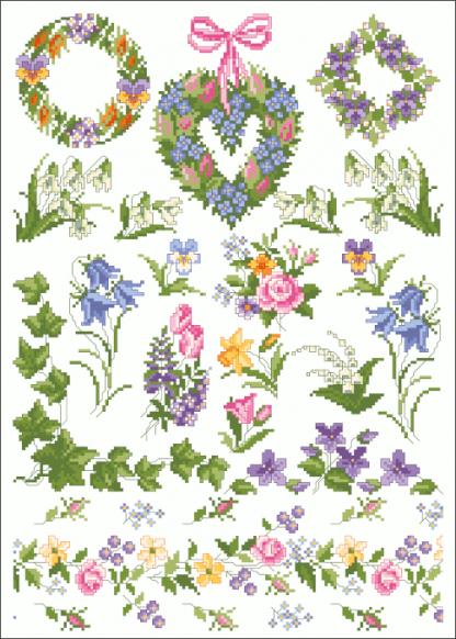 Zählvorlagen, Frühjahr, Petite Fleur