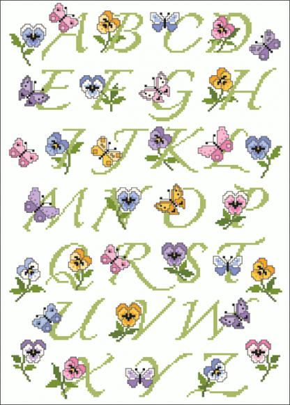 Zählvorlagen, Frühjahr, Frühlings-ABC