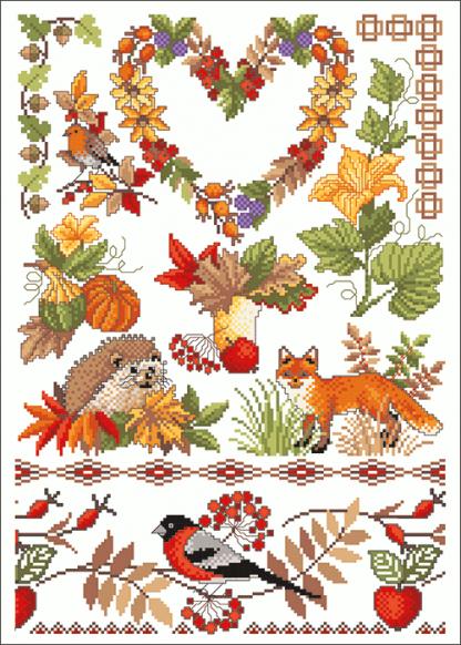 Zählvorlagen, Herbst, Indian Summer