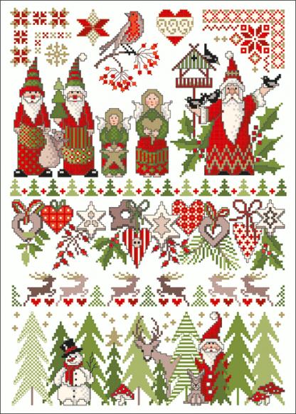 Zählvorlagen, Weihnachten, Christmas World