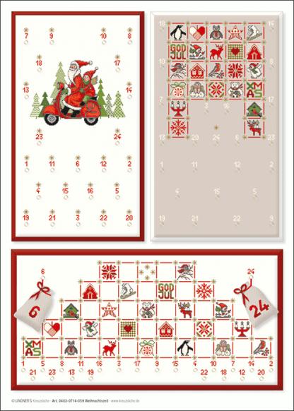 Zählvorlagen, Weihnachten, Weihnachtszeit