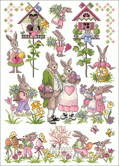 Zählvorlagen, Ostern, Hasenbande