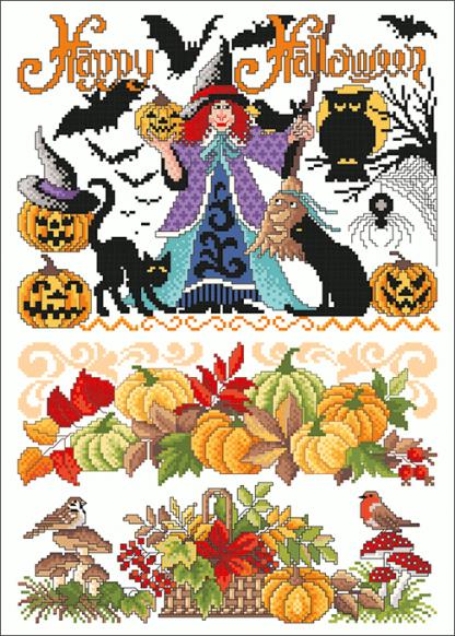 Zählvorlagen, Herbst, Happy Halloween
