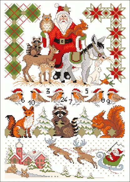 Zählvorlagen, Weihnachten, Draußen vom Walde