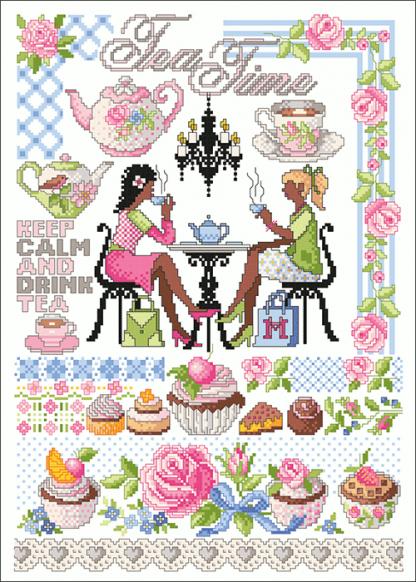 Zählvorlagen, Küche, Tea Time
