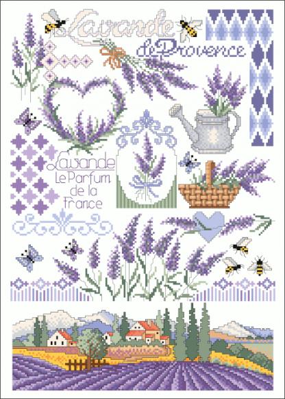 Zählvorlagen, Sommer, Lavande de Provence
