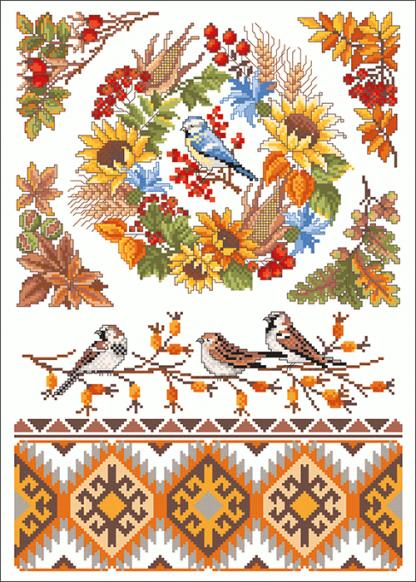 Zählvorlagen, Herbst, Herbstzauber