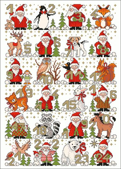 Zählvorlagen, Weihnachten, Adventszeit