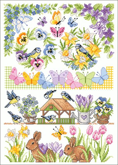 Zählvorlagen, Frühjahr, Frühlingserwachen