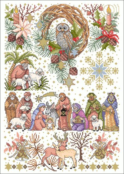 Zählvorlagen, Weihnachten, Lichterglanz
