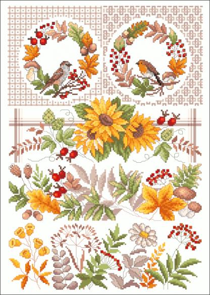 Zählvorlagen, Herbst, Herbstsonne