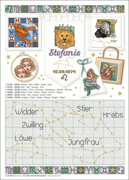 Zählvorlagen, Traditionell, Sternzeichen 1