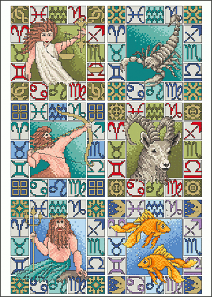 Zählvorlagen, Traditionell, Sternzeichen 2