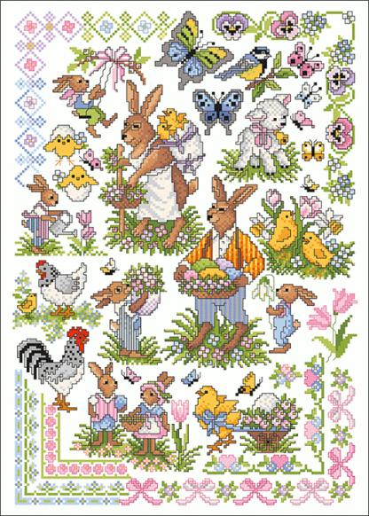 Zählvorlagen, Ostern, Ostergrüße
