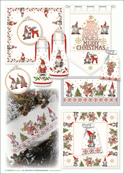 Zählvorlagen, Weihnachten, Weihnachtswichtel