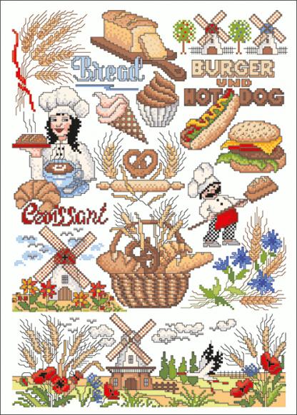 Zählvorlagen, Küche, Vom Korn zum Brot
