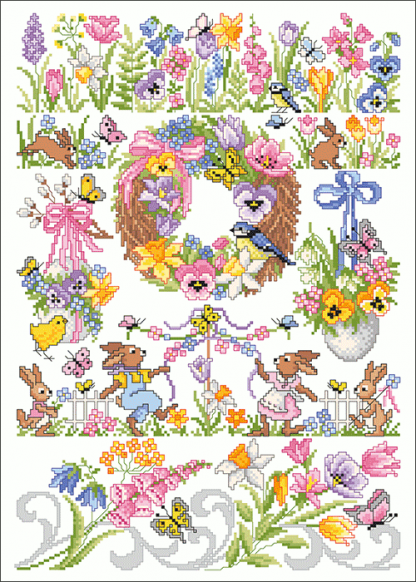 Zählvorlagen, Frühjahr, Frühlingsflair