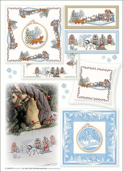 Zählvorlagen, Winter, Winterwunderland