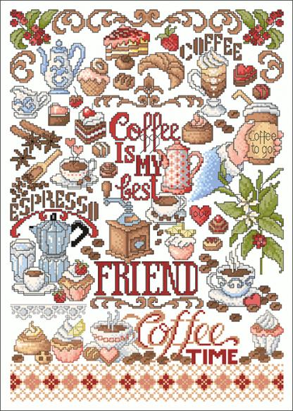 Zählvorlagen, Küche, Coffeeshop