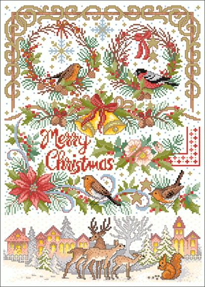 Zählvorlagen, Weihnachten, Merry Christmas